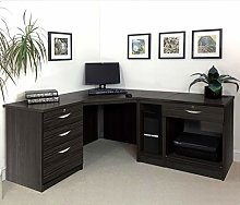 SET-18-IN Corner Desk Filing Drawer Cabinet Living