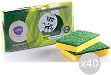 Set 40 CLENDY Sponge + Abrasive Fibre X3 Small
