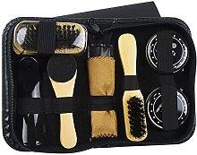 Set 8 PCS Leather Shoe Shine Care Shoes Polish Kit