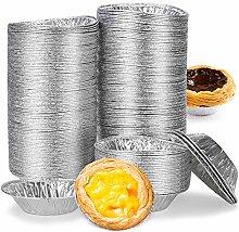 Set Foil Trays Muffin Cases(250 Pcs),Egg Tart