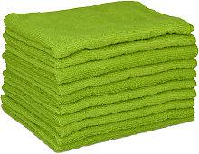Set of 10 Microfibre Cleaning Cloths, 40x30 cm;