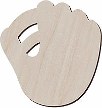 Set of 10 Wooden Baseball Mitt for Crafts and