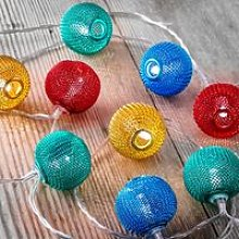Set of 12 Battery Operated 2.5m Indoor String LED