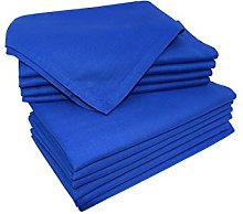 Set Of 12,Cloth Dinner Napkins in Royal Blue
