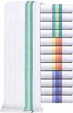 Set of 12 Herringbone Weave Tea Towels - 100% Ring