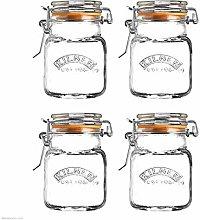 Set of 12 Kilner 70ml Clip Top Airtight Spice Herb