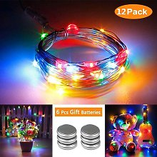 Set of 12 String Lights with Batteries (Included)