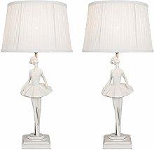 Set of 2 Ballerina Table Lamp or Bedside Lights,