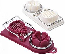 Set of 2 Boiled Egg Slicer, 2 in 1 Egg Divider