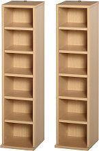 Set of 2 CD Media Display Shelf 204 Capacity Unit
