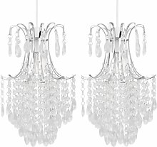 Set of 2 Chandelier Style Easy Fit Ceiling Light