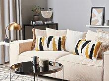 Set of 2 Decorative Cushions Multicolour 30 x 50