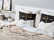 Set of 2 Decorative Cushions Multicolour 45 x 45