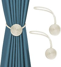 Set of 2 decorative magnetic curtain tiebacks, 50
