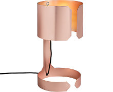 Set of 2 design table lamps matt copper - Waltz