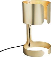 Set of 2 design table lamps matt gold - Waltz