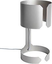 Set of 2 design table lamps matt steel - Waltz