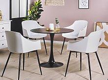 Set of 2 Dining Chairs Plastic White Minimalist