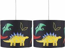 Set of 2 Dinosaur 25cm Light Shades
