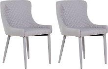 Set of 2 Fabric Dining Side Chair Diamond