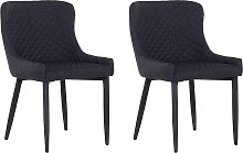 Set of 2 Fabric Dining Side Chair Diamond
