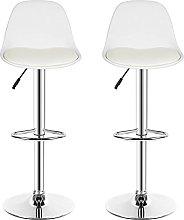 Set of 2 Furniture Bar Stools with Adjustable