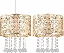 Set of 2 Gold Cut Out Jewelled Easy Fit Light