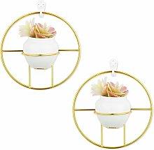 Set of 2 Indoor Hanging Flower Pot Cactus Pot Wall