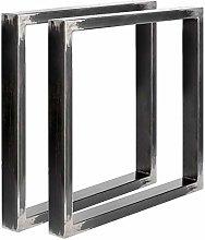 Set of 2 Industrial Steel Dinning Table/Desk/Bench