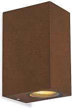 Set of 2 Industrial Wall Lamp Rust-Brown IP44 -