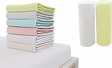 Set of 2 Jersey Cotton Fitted Sheets 60x120cm, for