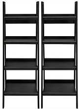 Set Of 2 Lawrence Ladder Bookcases