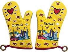 Set of 2 Love Dubai Porcelain Oven Mitts