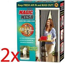 Set Of 2 Magic Mesh Magnetic Curtain Net Screen