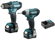 Set of 2 Makita CLX224SMJ machines - Drill and