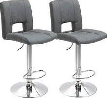 Set Of 2 Modern Linen Fabric Bar stool Armless