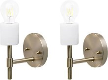 Set of 2 Modern Minimalist Wall Lamps Light Sconce