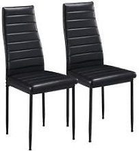 Set of 2 Modern Parson Dining Chairs High Back