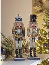 Set Of 2 Nutcracker Soldiers &Ndash; Blue &Amp;