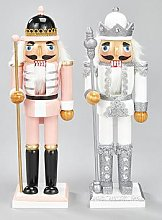 Set Of 2 Nutcracker Soldiers &Ndash; Pink &Amp;