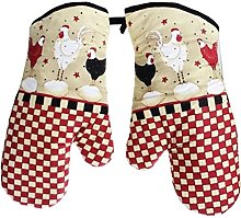 Set of 2 Oven Mitts Heat Resistant Kitchen Gloves