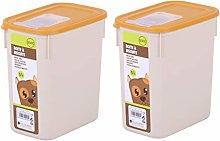 Set of 2 Pet Storage Container Plastic Animal Dog