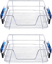 Set of 2 Pull Out Wire Basket Kitchen Cabinet
