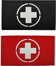 Set of 2 Reflective Medic Patches,EMS EMT MED
