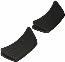 Set of 2 Silicone Side Handle Grip Black-Standard