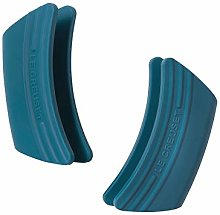 Set of 2 Silicone Side Handle Grip Teal-Standard
