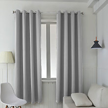 Set of 2 Thermal Grommet Blackout Curtain Thermal