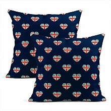 Set of 2 Throw Cushion Covers Decorative English