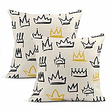 Set of 2 Throw Cushion Covers Decorative Various