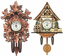 Set of 2 Vintage Design Cuckoo Clock Quarz